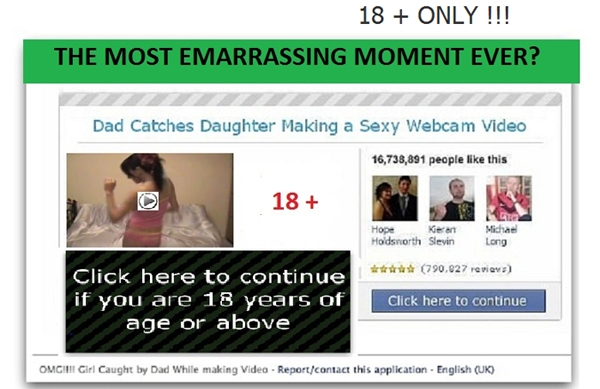 'This Stupid Girl got Caught Stripping by Her Daddy on a Webcam,' Facebook Scam