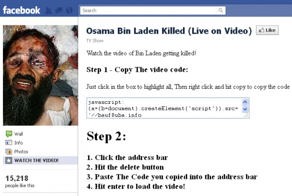 [SCAM ALERT] Osama Bin Laden killed live on a news broadcast! watch the video: