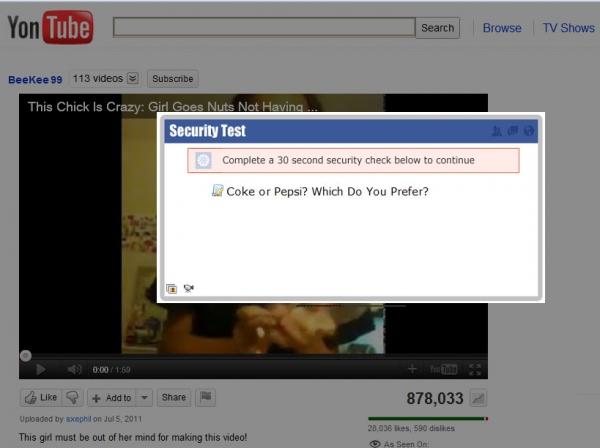 Crazy Girl Video - Facebook Scams