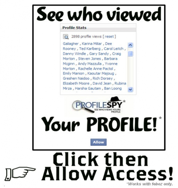 'OMG OMG OMG...I cant believe this actually works! Now you really can see who viewed your profile! ' Facebook Scam
