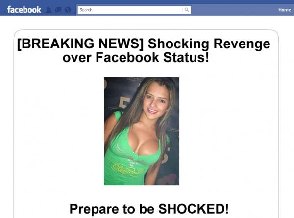 '[BREAKING NEWS] Shocking Revenge over Facebook Status!' - Facebook Scam