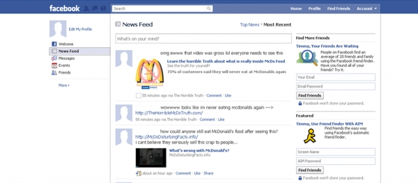 Find out the very nasty Truth about McDonalds food! Facebook Scam