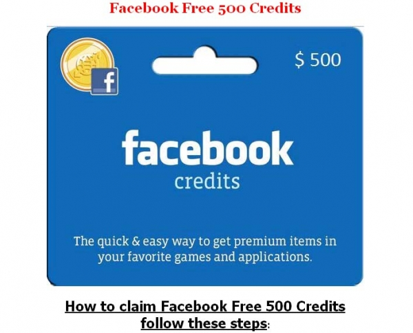 [SCAM ALERT] Get your free 500 Facebook credits. CHECK IT OUT HERE!! ENJOY