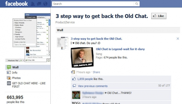 Be cautious if you choose to install scripts to restore the Old Facebook Chat
