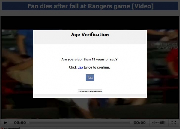 Fan dies after fall at Rangers game [Video] – Facebook Scam