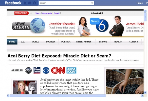 [SCAM ALERT] Facebook Sponsored Weight Loss Product!
