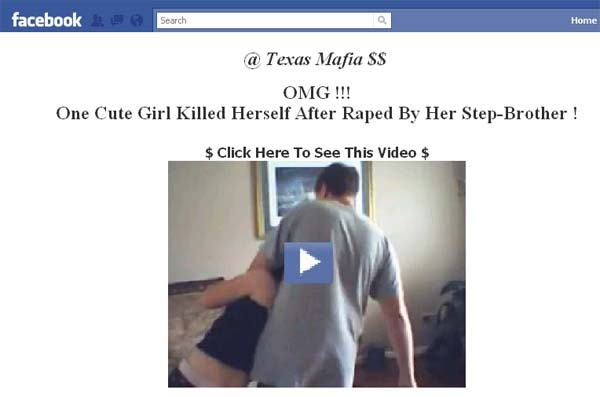 'OMG!! One Cute Girl Killed Herself After Raped By Her Step-Brother !!' Facebook Scam