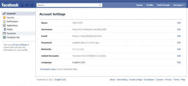 Your Facebook Account Settings are fine - only the design has changed