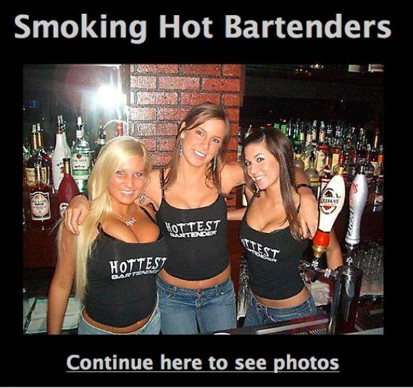 Smoking Hot Bartenders Facebook Scam