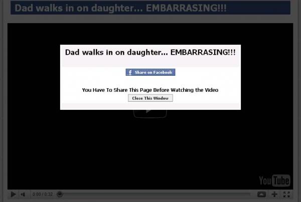 Dad walks in on daughter...EMBARRASING!!! Viral Facebook Scam hits Again