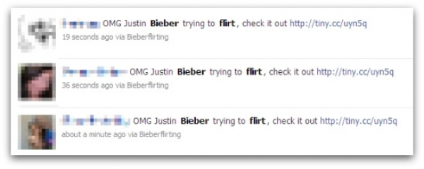 Justin Bieber trying to flirt