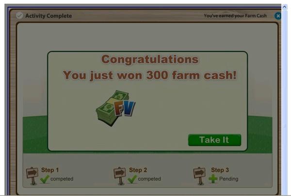 'You won 300 Farm Cash! - 300 Free FV Cash Christmas Celebration [Zynga]' - Facebook Scam