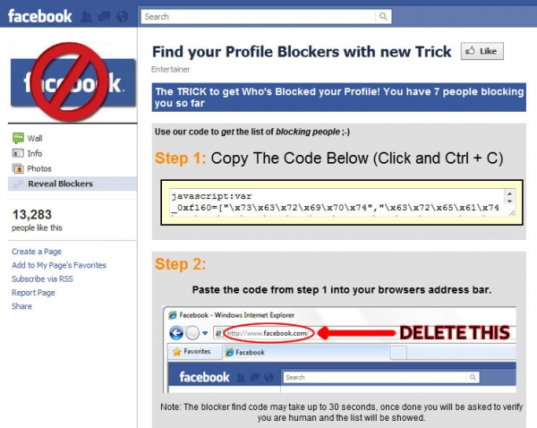Find your Profile Blockers with new Trick - Facebook Scam