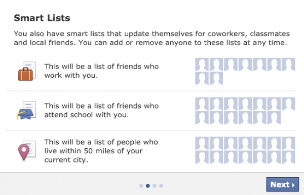 Automatically Organize your Facebook Friends with Smart Lists