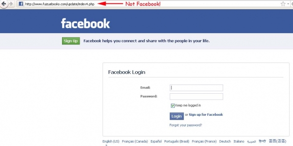The president is finally taking charge!! – Facebook Virus and Phishing Attack