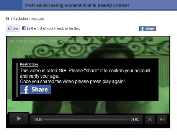 Kim Kardashian exposed! – Facebook Scam