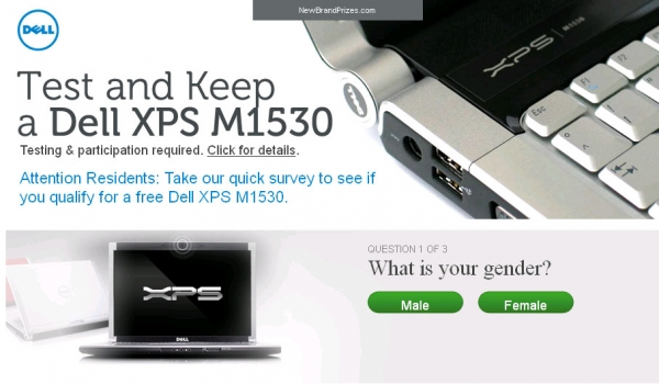 Get A Free Dell XPS M1530! - Facebook Scam