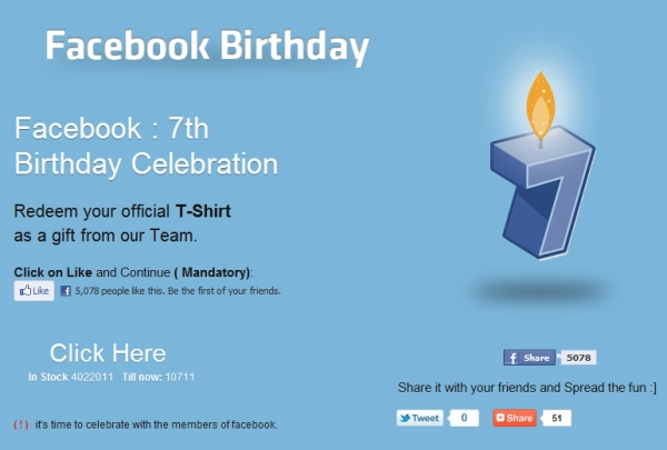 WOW, got a super free sexy T-shirt from facebook Team...Grab ur's from here...Facebook Scam