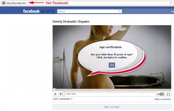 Overly Dramatic Orgasm - Facebook Survey Scam