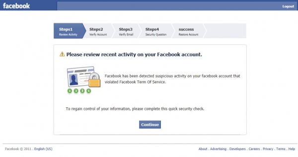 [Phishing Alert] Facebook Security Network